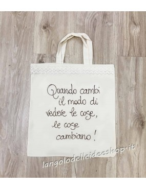 "BORSA SHOPPER ""LE COSE..."