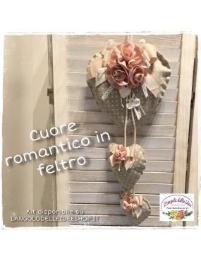 CARTAMODELLO CUORE ROMANTICO