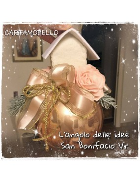 CARTAMODELLO PALLA CON ROSE...