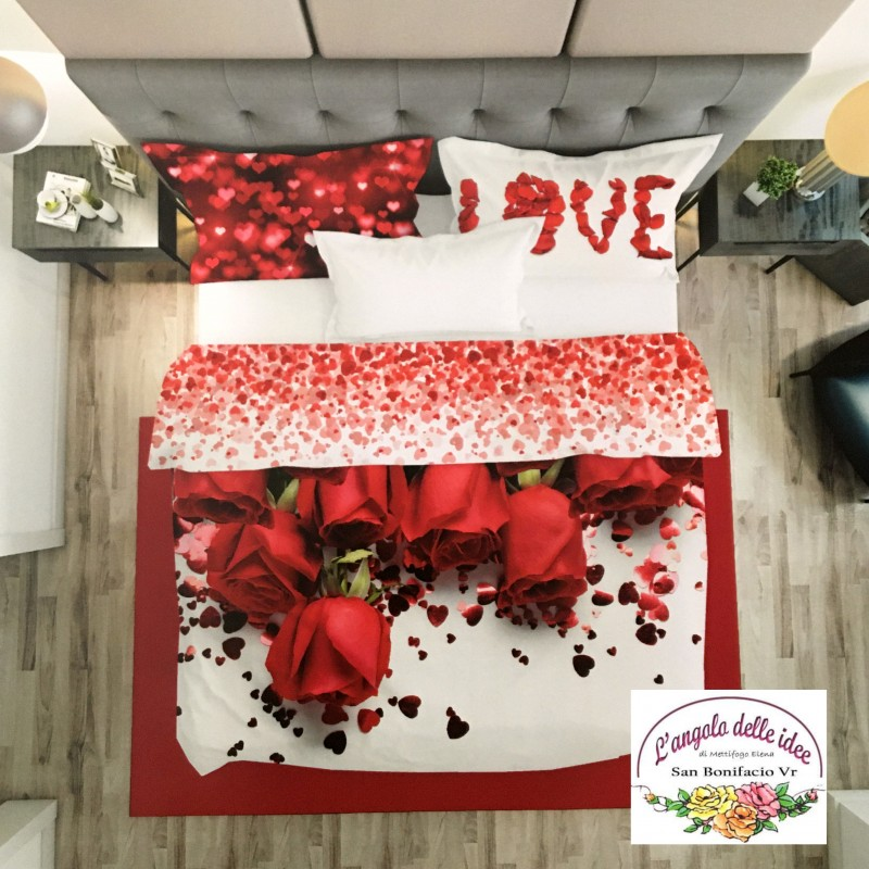 Lenzuola Stampate Rose Rosse L Angolo Delle Idee Shop On Line