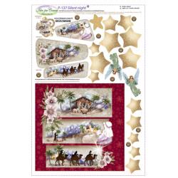 Pannello Nativity in feltro
