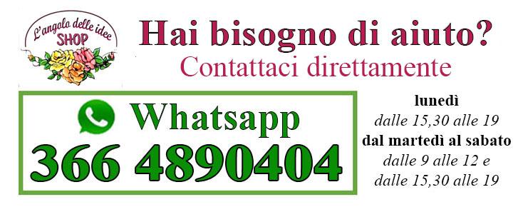 Se hai bisogno d'aiuto CLICCA QUI i e scrivici direttamente su whatsapp